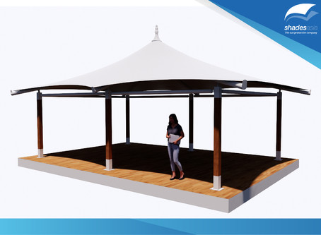 READY-TO-INSTALL FABRIC STRUCTURE FOR SALE