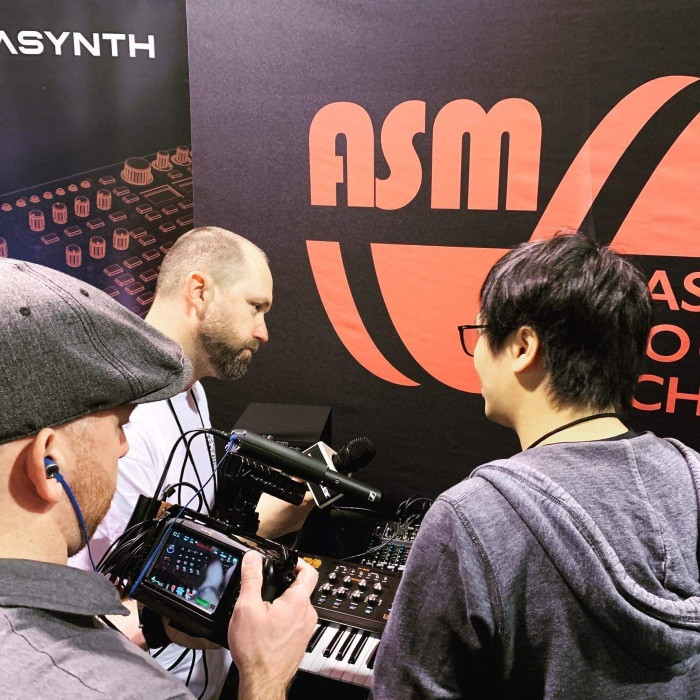 Dominic Au being interviewed by MusicRadar.