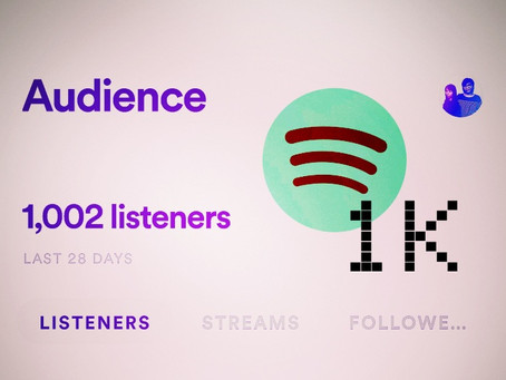 Hitting 1K Spotify listeners!