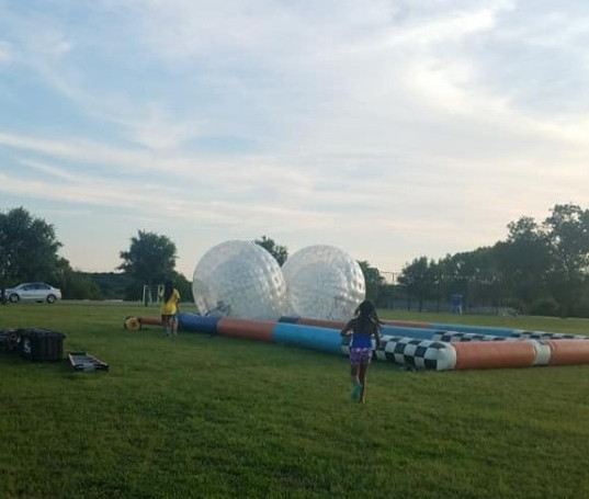 Camp Hamster Ball Races