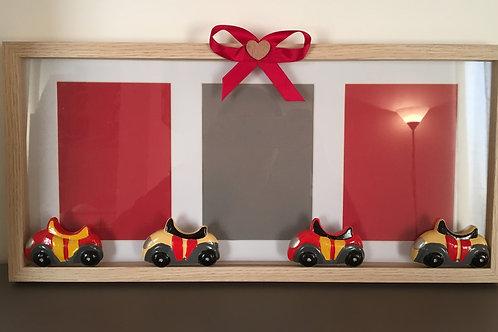 Cornice a tre foto con automobili