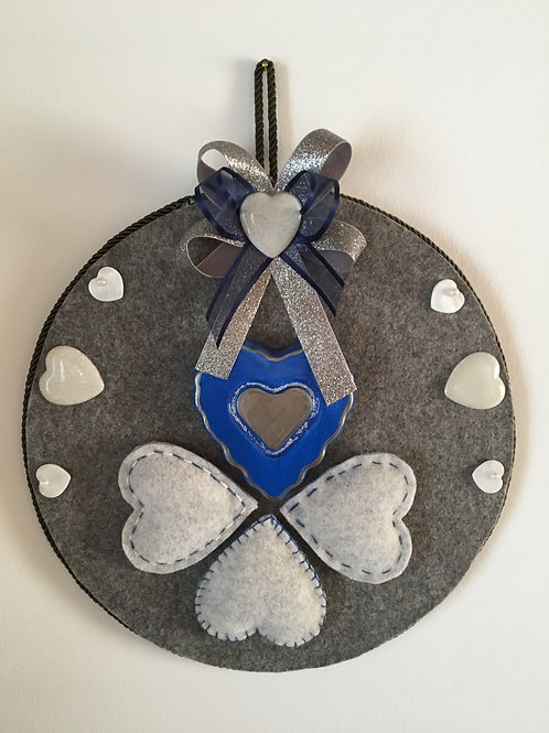 Fuoriporta blu panno