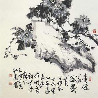 석국/石菊/Chrysanthemum with stone