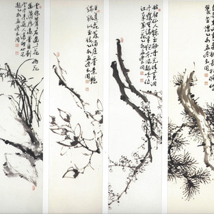 팔곡병풍/八曲屛風/Paintings on polding screen