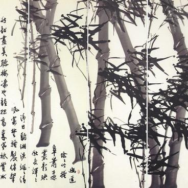 풍죽팔곡병풍1-1/風竹八曲屛風/Bamboo