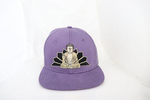 BUDDHA PURPLE FLAT BRIM CAP