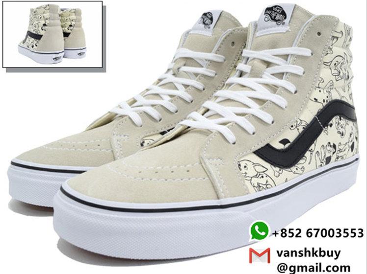 Vans x Disney 101 Dalmatians SK8 HI Reissue Shoes 迪士尼101忠狗斑點狗高筒綁帶鞋 vanshk  vanshk