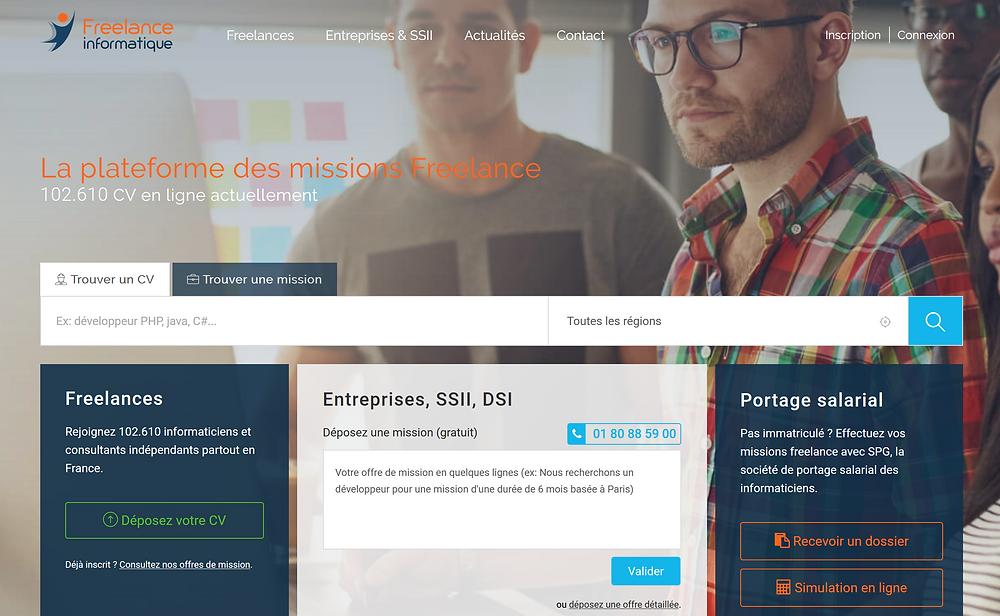 EP Portage: Plateforme freelance-informatique.fr
