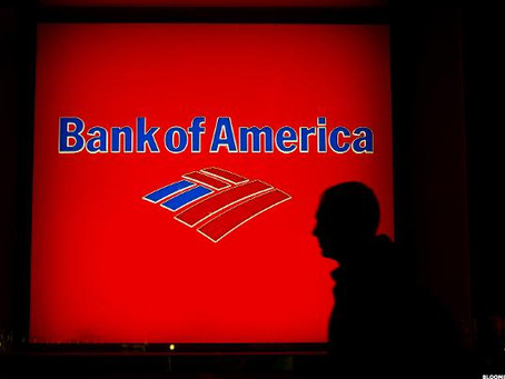 Bank of America Shares Tumble on Forecast for Lower Lending Income