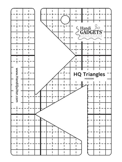 HQ Triangles Ruler Template