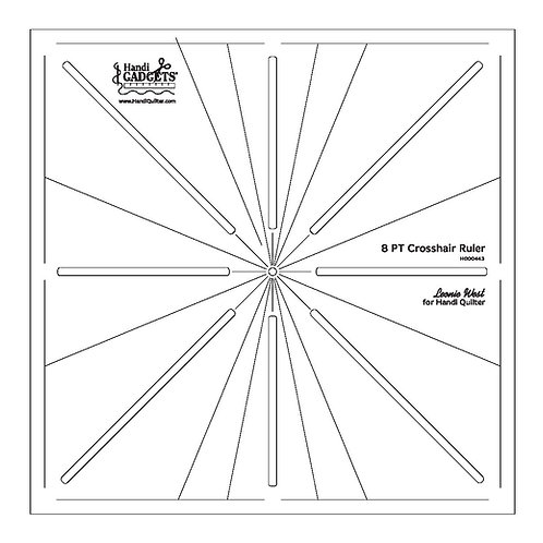 8pt Crosshair Ruler Template
