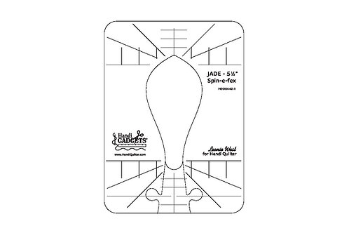 Jade 5 1/2-inch Spin-e-fex Ruler Template