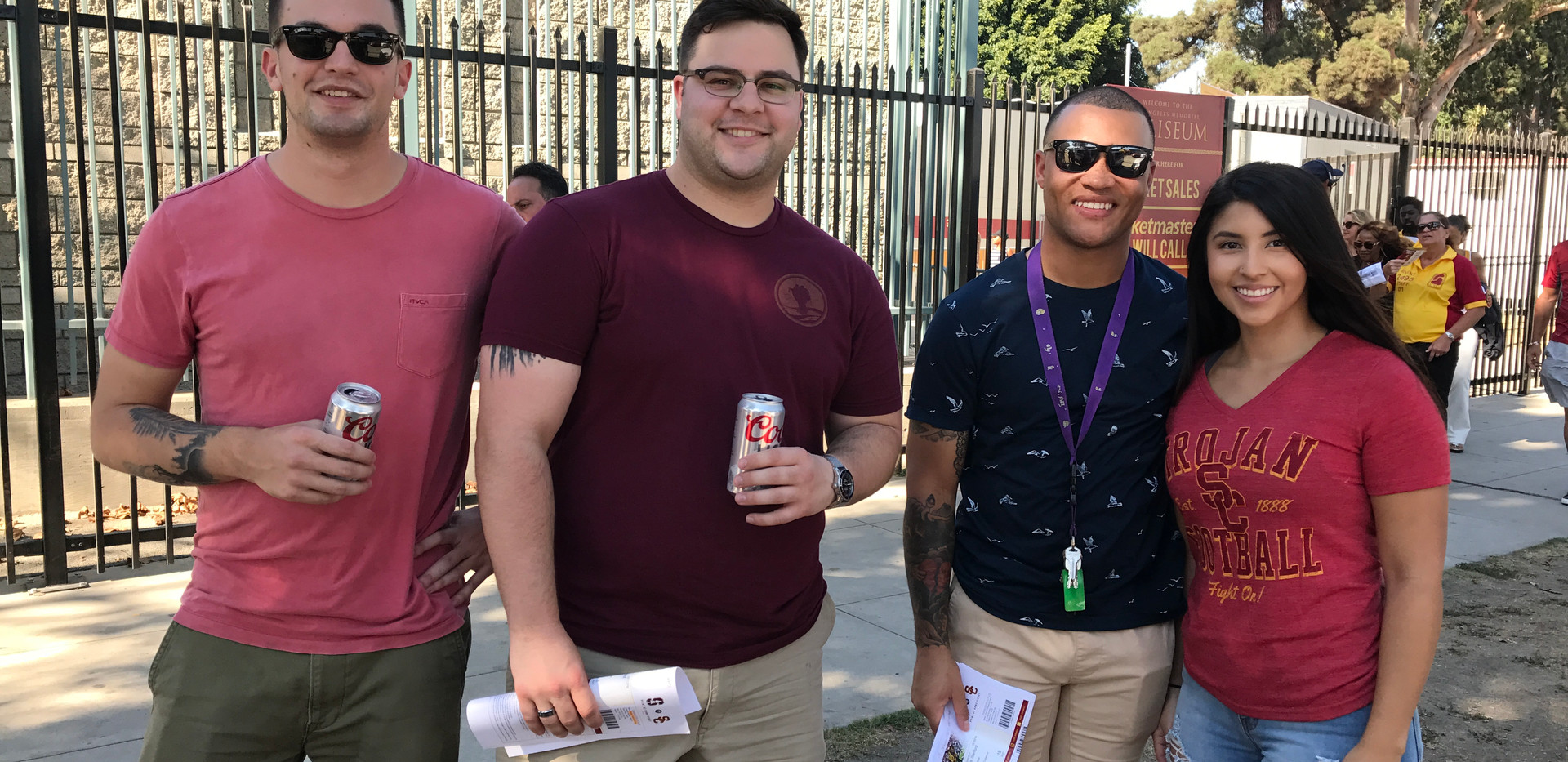 Some of our troops attending a USC game.