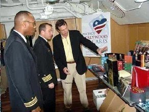 Describing over 1,340 entertainment products to the ship's Captain and Chaplain.