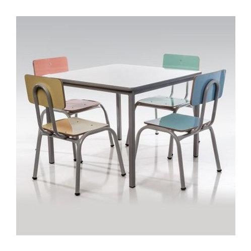 conjunto pré-escolar mesa com 4 cadeiras