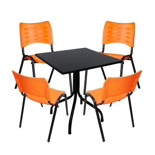conjunto biblioteca /lanchonete com 4 cadeiras em POLIPROPILENO