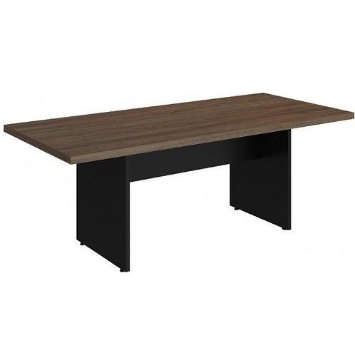 mesa reunião retangular pés painel
