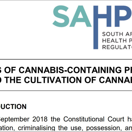 Legal status of cannabis containing products