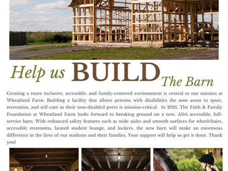 New Barn Coming Soon!