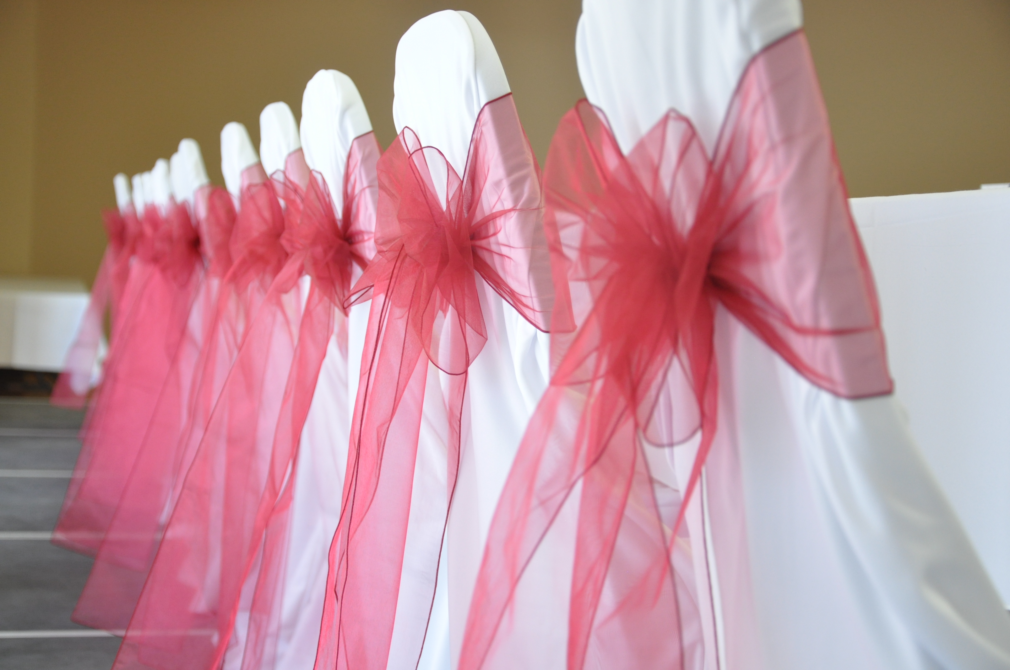 Organza Chair Sash, Wedding, Okotoks