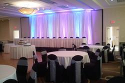 Backdrop, Up Lights, Wedding