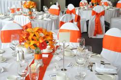 Orange Satin, Chair Sash, Okotoks