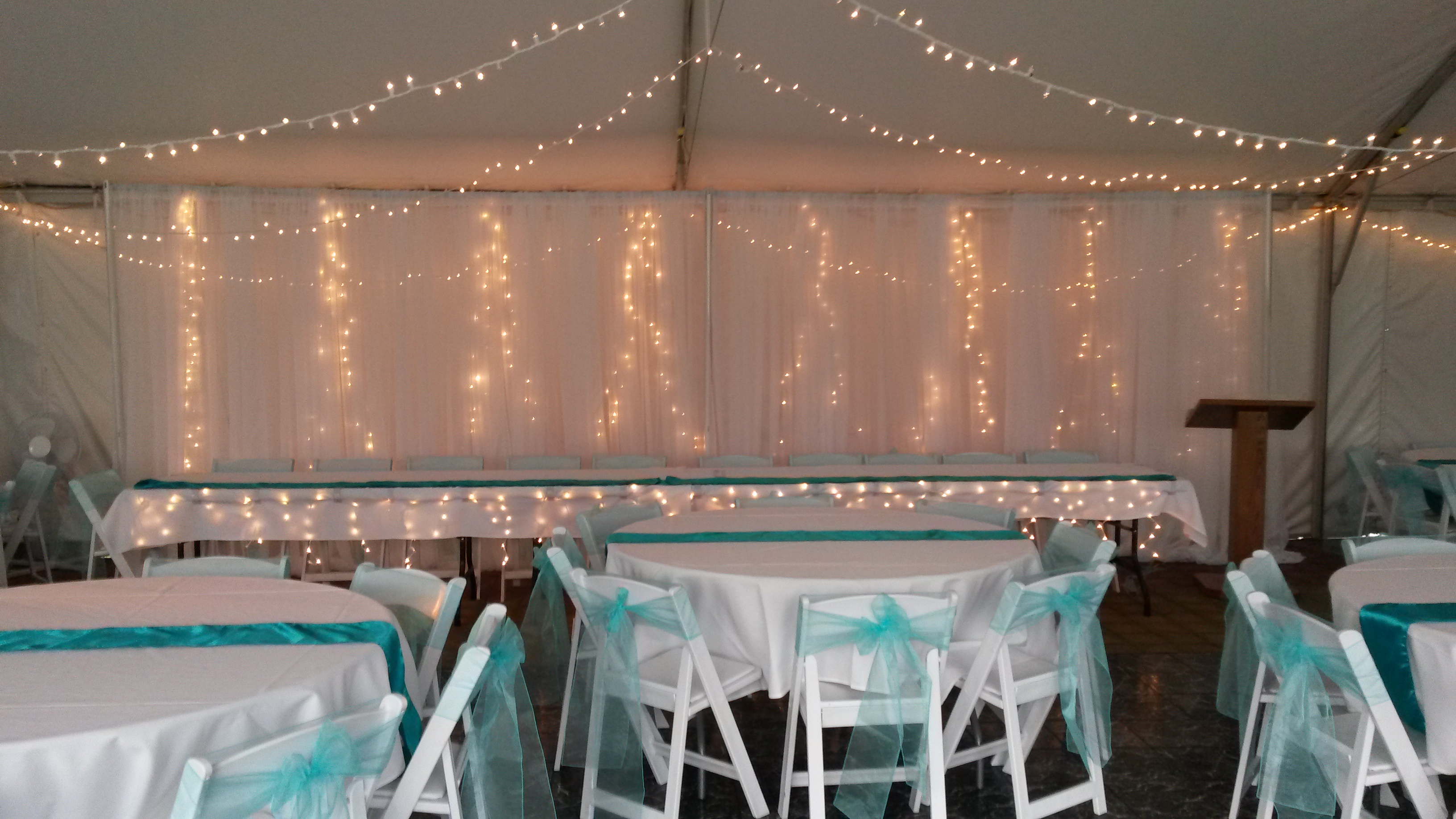 Backdrop with String Lights