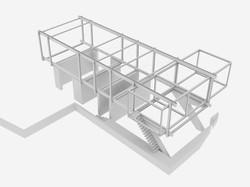 Umbau Villa am See Pella: Statisches System Anbau