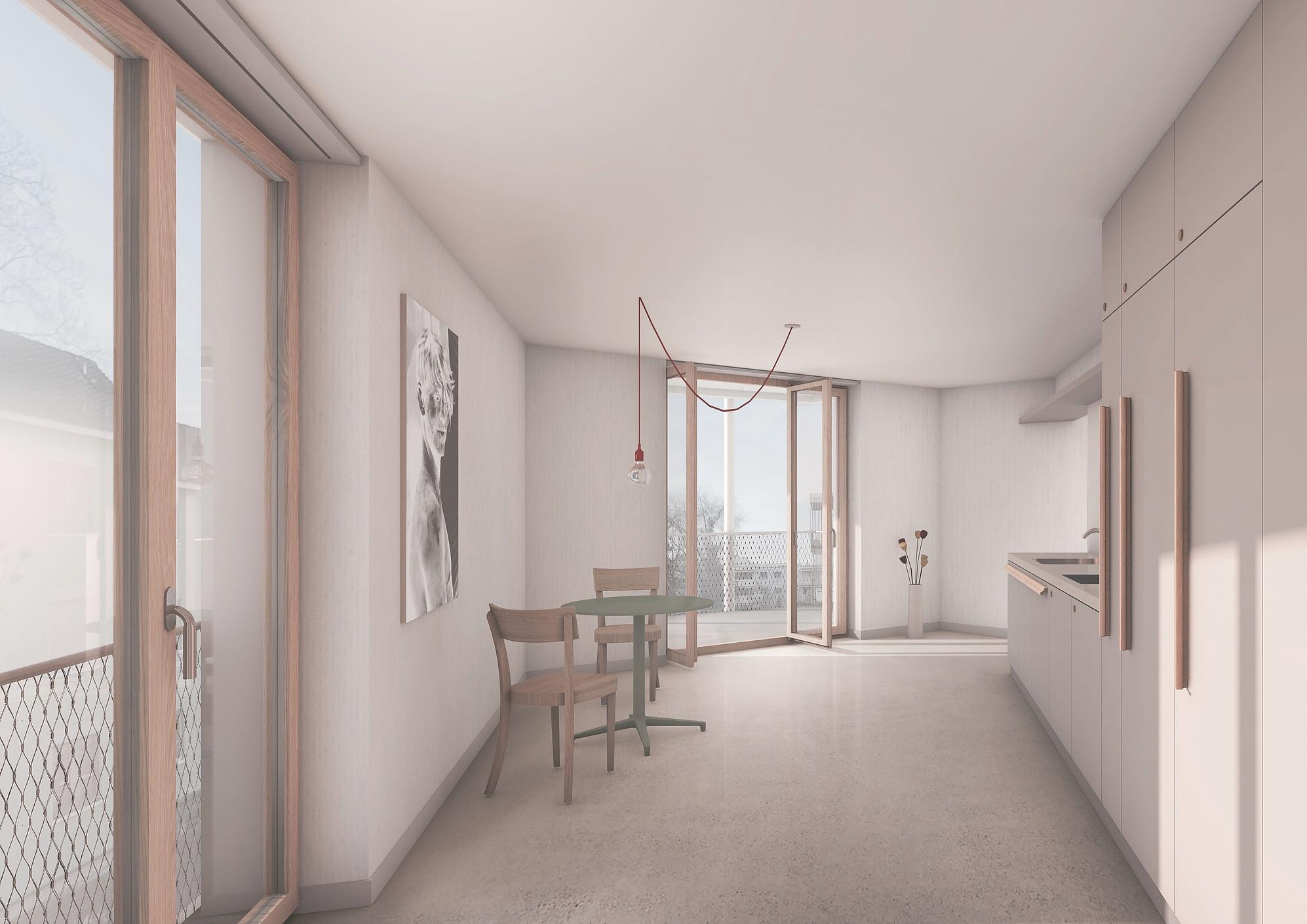 Neubau Wohnhaus Forelhausstiftung Zürich: Esszimmer Wohngemeinschaft