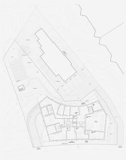 Neubau Wohnhaus Forelhausstiftung Zürich: Erdgeschoss mit Umgebung