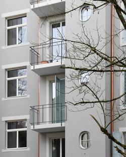 Umbau Wohnhaus Zürich: Hof (Bild Mikael Blomfelt)