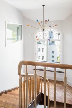 Umbau Wohnhaus Zürich: Treppenhaus (Bild Simon Fässler)