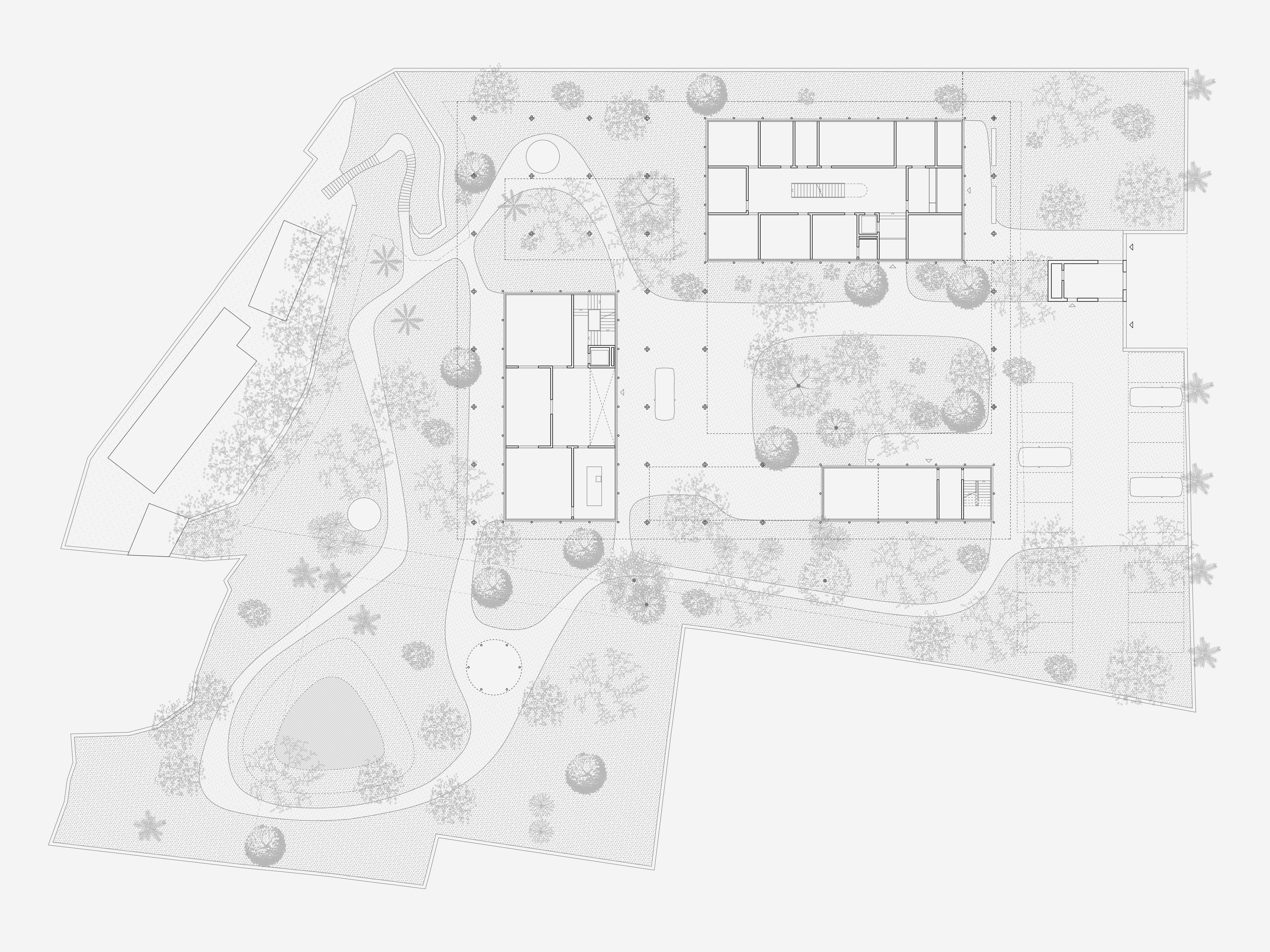 Neubau Schweizerische Botschaft Addis Abeba: Gartenniveau