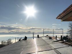 Sanierung Bergrestaurant Lägern Hochwacht: Aussicht von der Dachterrasse