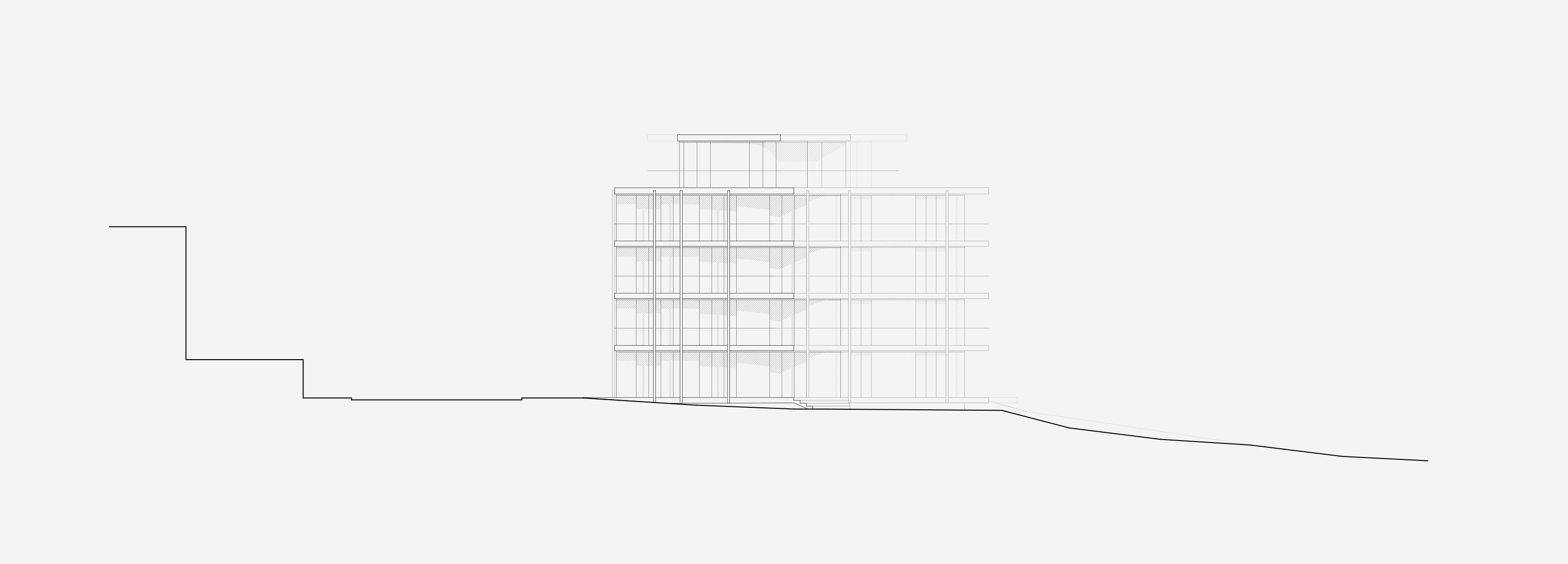 Neubau Wohnhaus Forelhausstiftung Zürich: Ostfassade