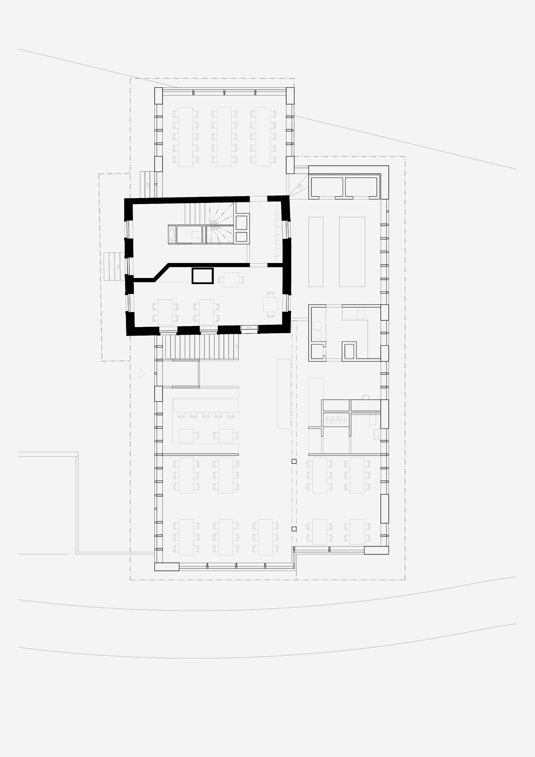 Sanierung Bergrestaurant Lägern Hochwacht: Grundriss Gastraum