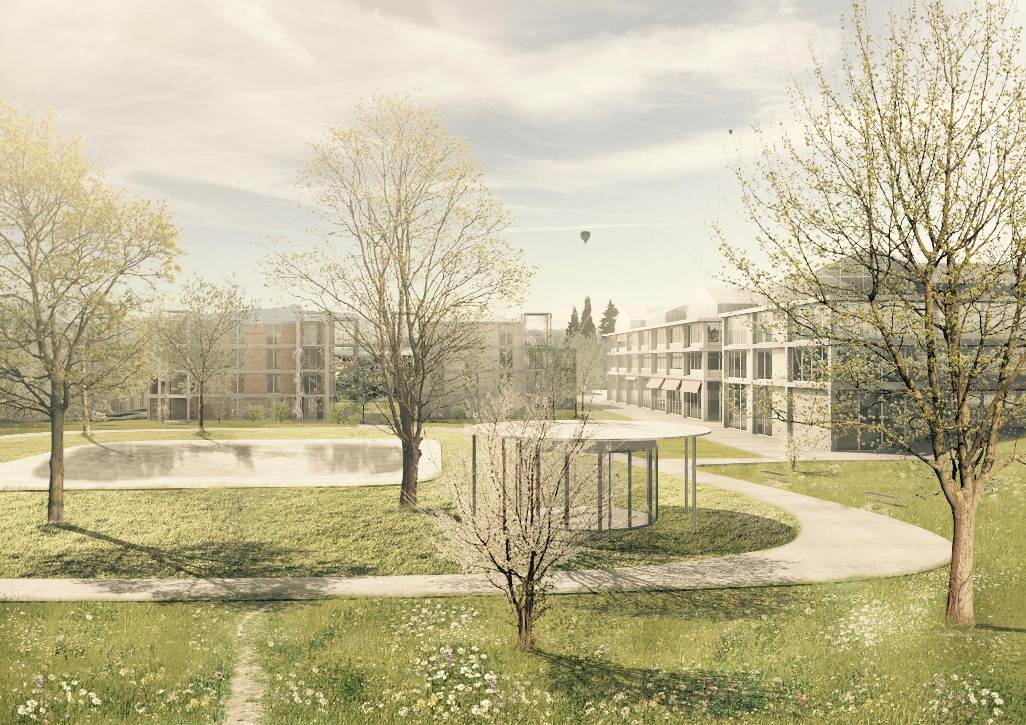 Richtprojekt Ziegelei Berg: Blick in den neuen Park