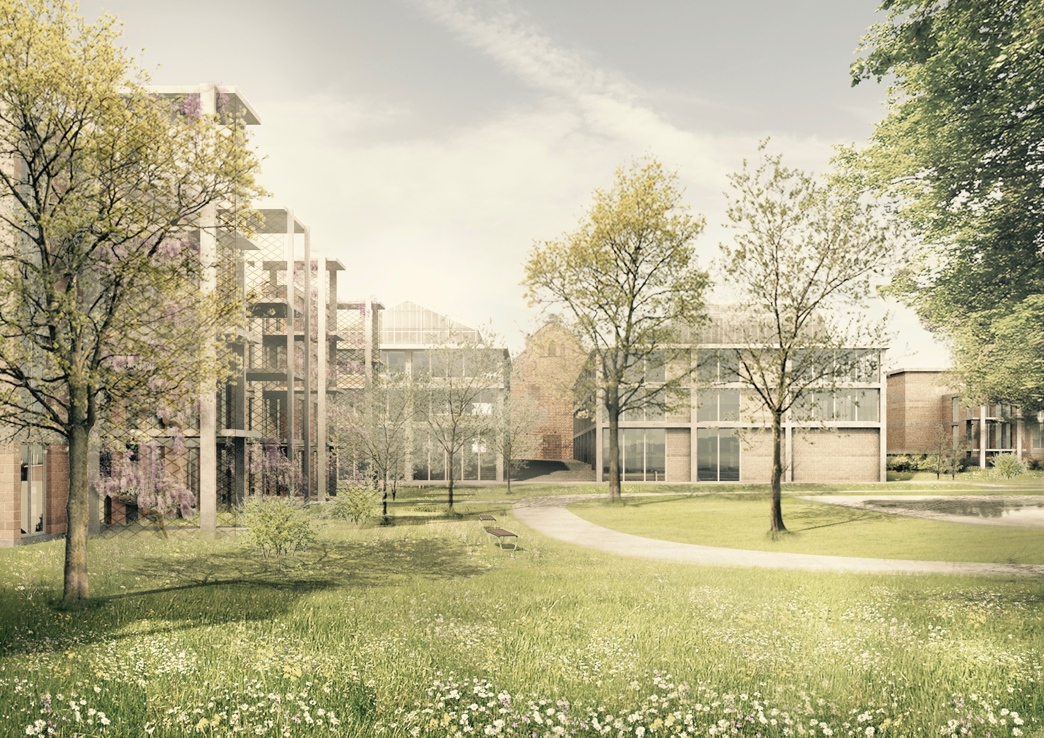 Richtprojekt Ziegelei Berg: Blick Richtung alte Ziegelei