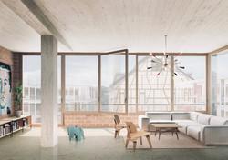 Richtprojekt Ziegelei Berg: Loftwohnung