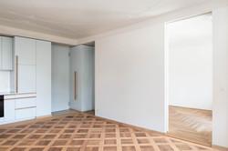 Umbau Wohnhaus Zürich: 2-Zimmer Wohnung (Bild Simon Fässler)