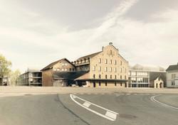 Richtprojekt Ziegelei Berg: Blick von der Strasse aus