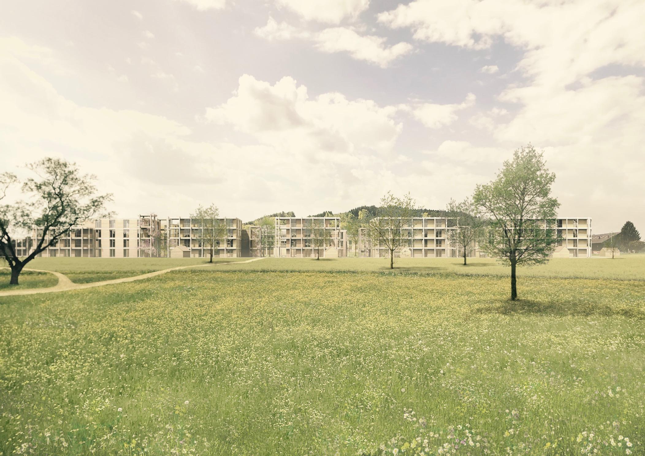Richtprojekt Ziegelei Berg: Blick von Osten