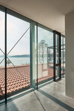 Umbau Villa am See Pella: Ausblick Anbau