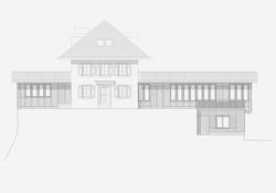 Sanierung Bergrestaurant Lägern Hochwacht: Westfassade