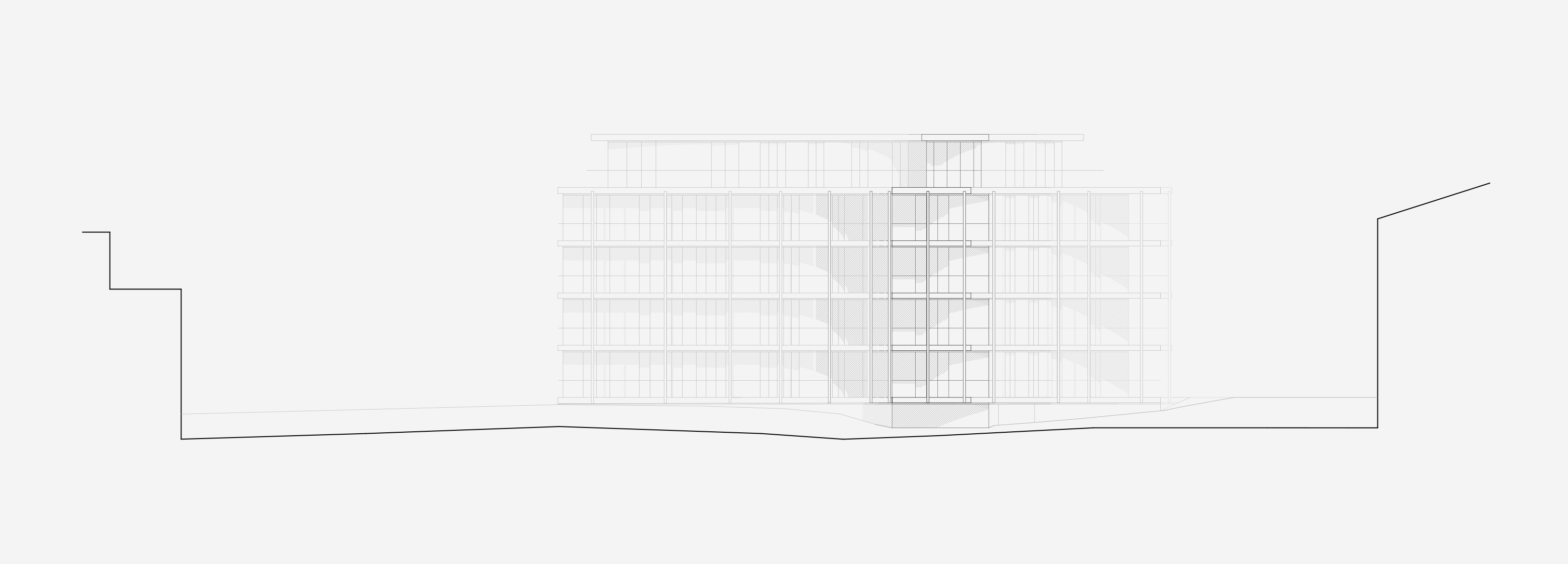 Neubau Wohnhaus Forelhausstiftung Zürich: Nordfassade