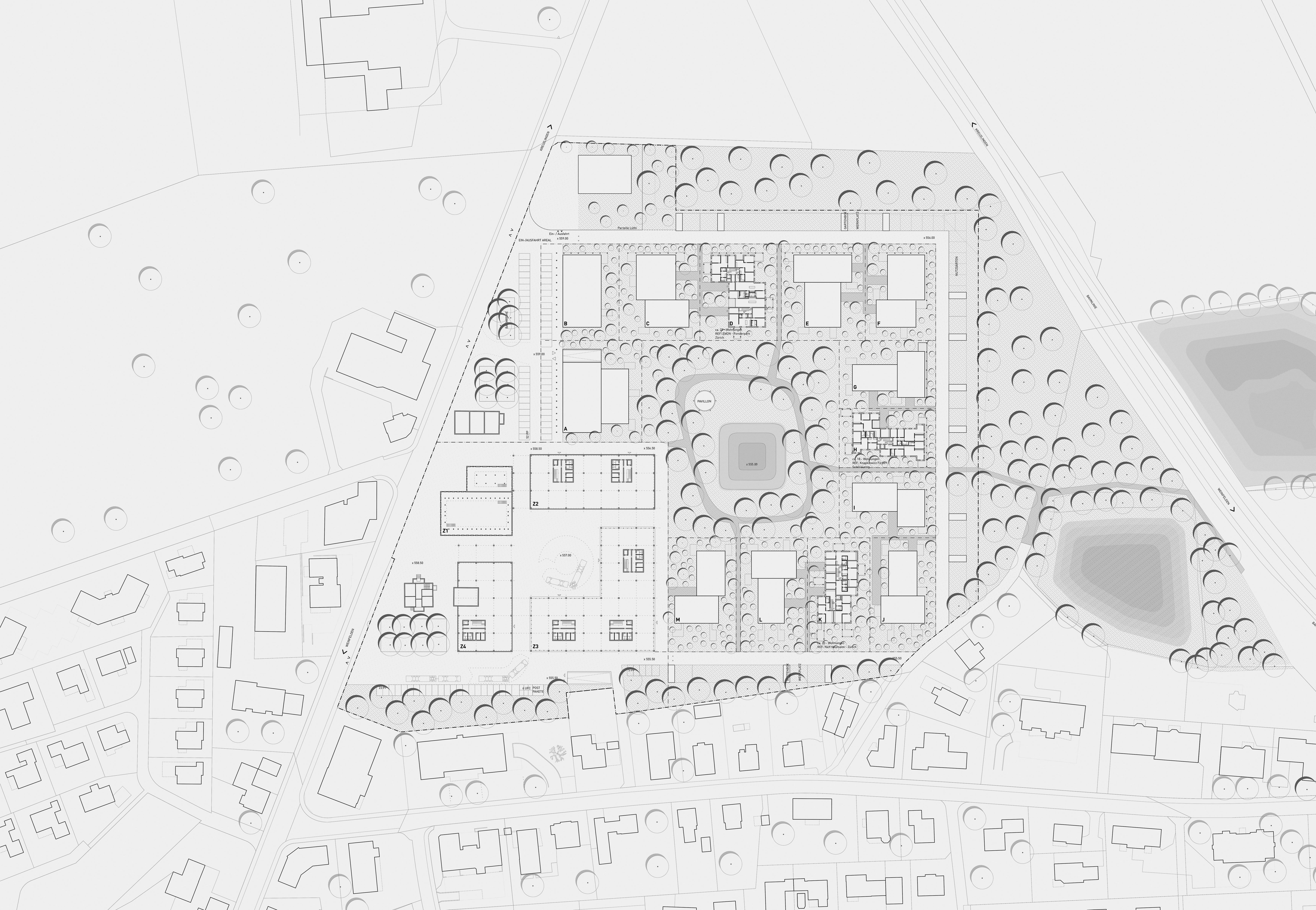 Richtprojekt Ziegelei Berg: Richtprojekt