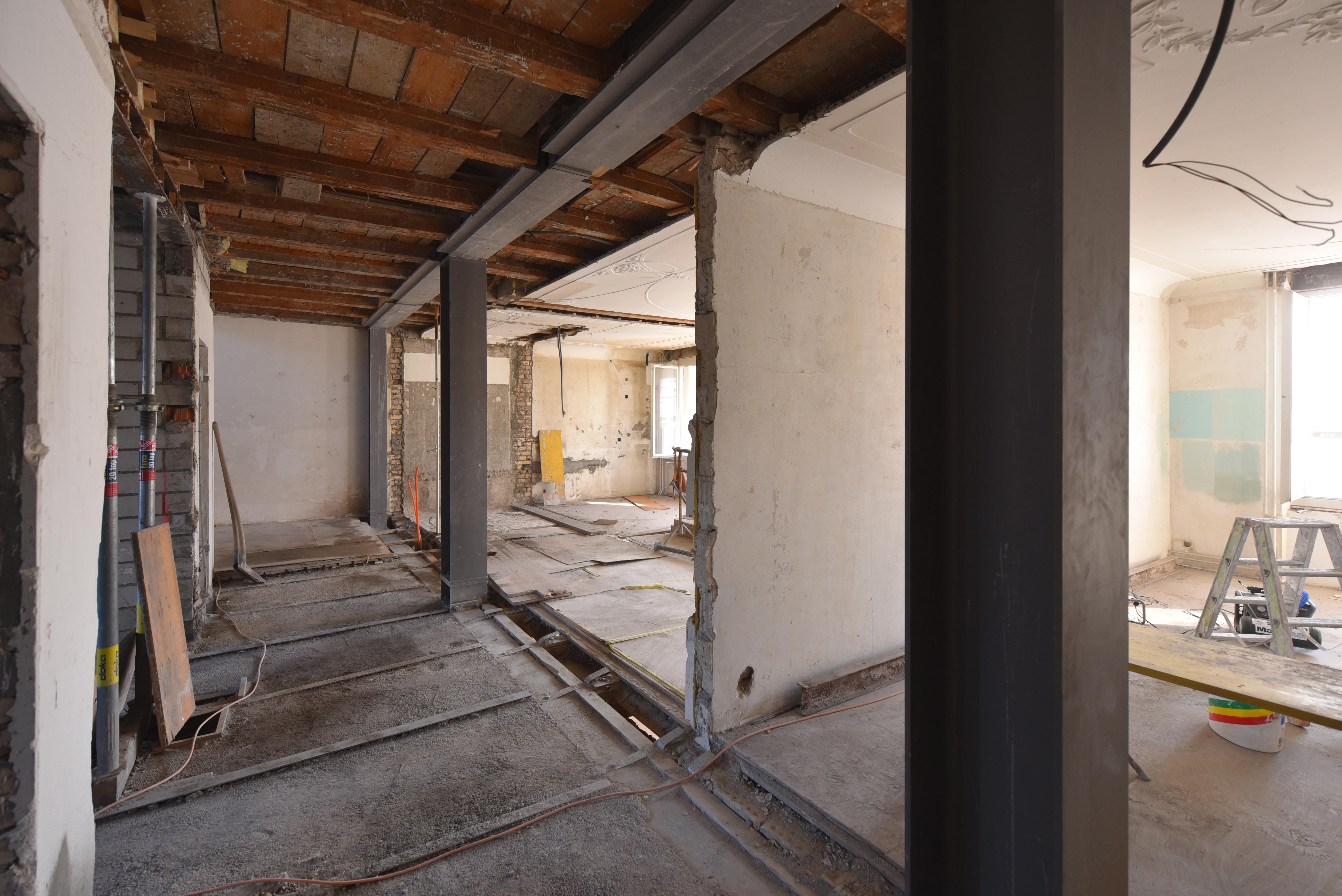 Umbau Wohnhaus Zürich: Bauzustand Erdbebenertüchtigung (Bild Laternser Waser)