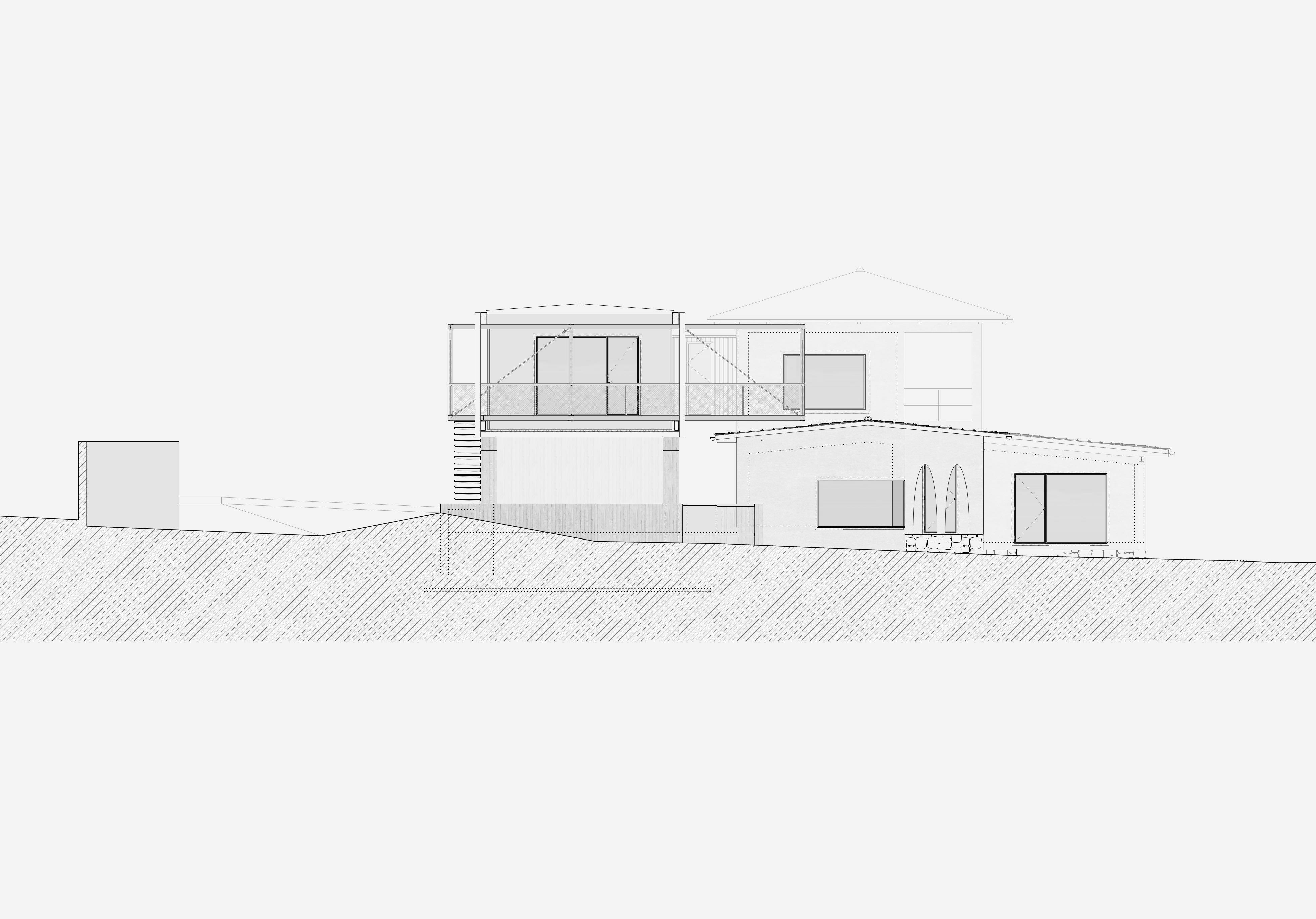 Umbau Villa am See Pella: Südfassade