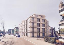 Neubau Wohnhaus Forelhausstiftung Zürich: Strassenansicht