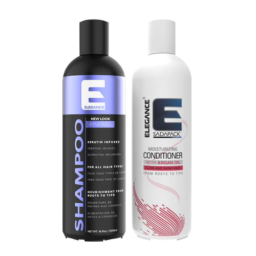 Hair Shampoo and Conditioner With Keratin - 2 Pack
